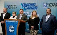 Conferencia de de prensa de la dirigencia estatal del PAN/Fotover