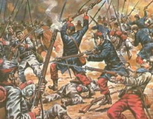 En el año de 1838 Francia invade a México reclamando 60 mil pesos de daños en pastelería de un Francés