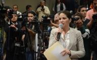 Mónica Robles recibió burlas en el recinto del Congreso de Veracruz/Fotover