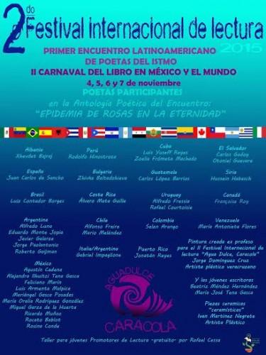 Invitan al segundo festival internacional de lectura agua for Alma de agua jardin de eventos
