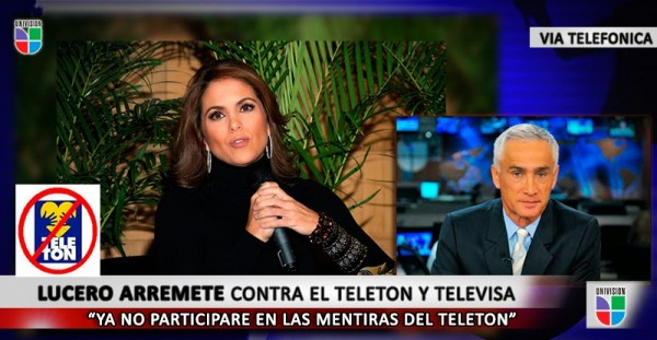 Lucero por fin habló de la farsa del Teletón que TELEVISA y muchas empresas usan para no pagar impuestos lo que el SAT les permite