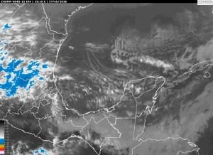 Durante este periodo persistirá cielo medio nublado a nublado con lluvias y neblinas en zonas montañosas, viento del Norte debilitándose de manera paulatina