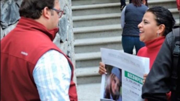 Aracely Salcedo cuando increpó a Javier Duarte