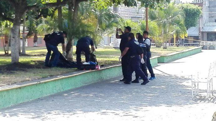Hallan cabeza humana en parque de Carrizal en Veracruz