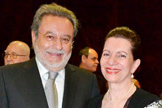 Antonio Macías y su esposa Yazmín Tubilla Letayf, padres de Karime Macías, esposa de Duarte. Foto: El Heraldo de Coatzacoalcos