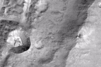 Imagen de la superficie de Marte, tomada por el Trace Gas Orbiter. Foto vía Afp