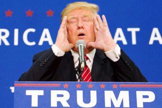 Donald Trump ahí viene el muro....