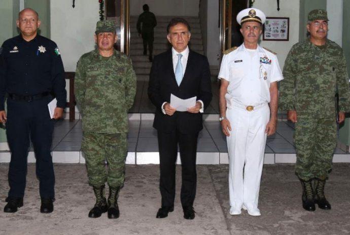 El gobernador del estado Miguel Ángel Yuness Linares anunció que se coordinan 5 dependencias en el grupo de Coordinación para combatir a delincuentes en sur de Veracruz