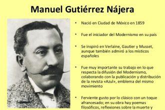 Manuel Gutérrez Nájera, gran poeta mexicano nace un 22 de Diciembre