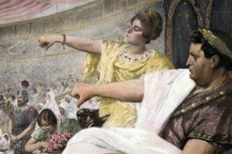 Nerón, mató a su madre, mató a su primera esposa, incendió Roma y culpó a los cristianos..
