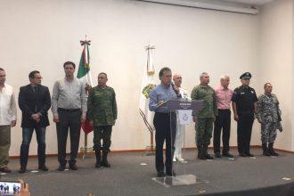 MAYL en conferencia de prensa en Boca del Río, Ver./Plumas Libres