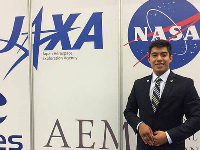 Yair Israel Piña, estudiante  mexicano llamado por la NASA para estudiar e investigar