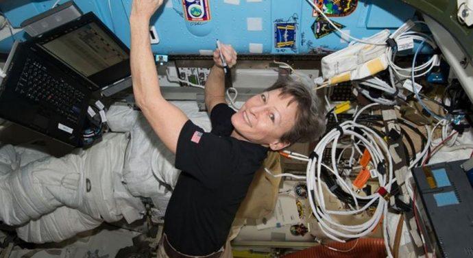 La astronauta estadunidense Peggy Whitson/Foto: Prensa Libre