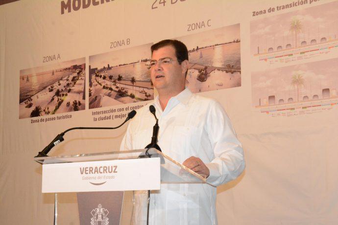 Anuncian modernización del bulevar costero del puerto jarocho