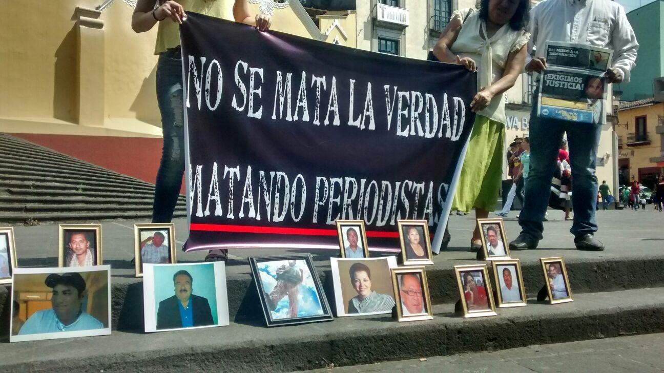Los comunicadores volvieron a salir a las calles ante la impunidad de los casos de compañeros asesinados/Plumas Libres