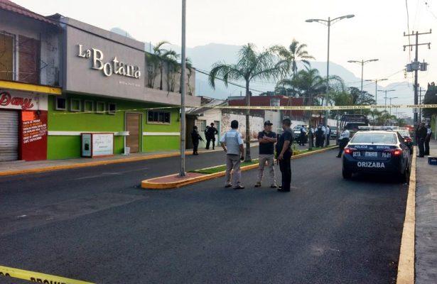 Balacera en bar de Orizaba deja 4 muertos y 3 heridos
