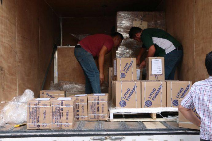 Llega paquetería electoral al OPLE de Boca del Río