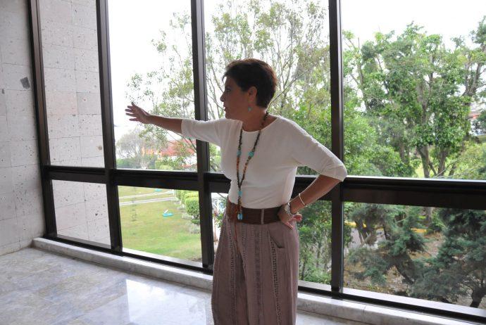 Asesora en Senado primo de Karime Macías