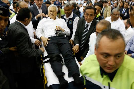 Por cansancio, se desmaya secretario de Seguridad de Veracruz