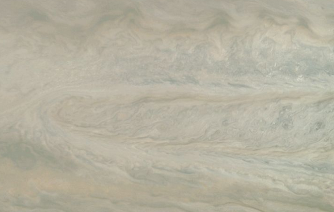 La NASA muestra un 'fantasma' en Júpiter