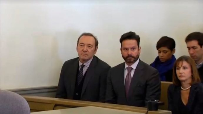Kevin Spacey declaró ante tribunales sobre presunta agresión sexual